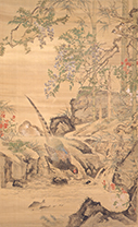 Wild Pheasants by a Mountain Stream by Watanabe Kazan (1793-1841)
