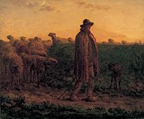 「群れを連れ帰る羊飼い」ジャン=フランソワ・ミレー(1814-1875)