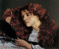 「ジョーの肖像 美しいアイルランド女性」ギュスターヴ・クールベ(1819-1877)
