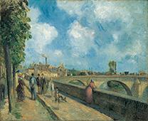 「ポントワーズの橋」カミーユ・ピサロ(1830-1903)
