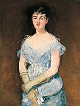 「イザベル・ルモニエの肖像」エドゥワール・マネ(1832-1883)
