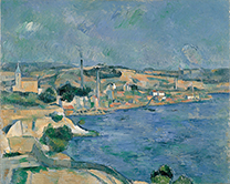 The Bay of Marseille Seen from the Village of Saint-Henri<br/>(La baie de Marseille vue du village de Saint-Henri)Paul Cezanne