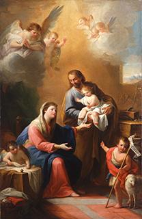 マリアーノ・サルバドール・マエーリャ「聖家族と幼い洗礼者聖ヨハネ」