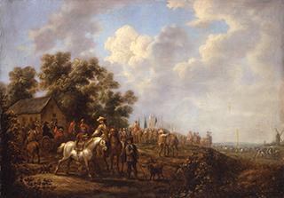 バレント・ガアル「兵士たちのいる風景」
