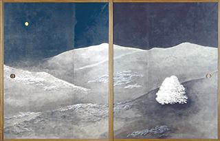 細川護煕 四季山水図襖絵「知音」(部分)<br /> 2013年
