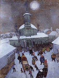 近岡善次郎「雪の済生館」(1984)