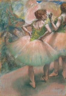 エドガー・ドガ「踊り子たち、ピンクと緑」(1894)