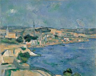 ポール・セザンヌ「サンタンリ村から見たマルセイユ湾」(1877-79頃)