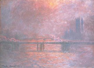 クロード・モネ「テムズ川のチャリング・クロス橋」(1903)