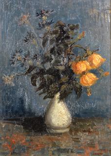 ヴィンセント・ヴァン・ゴッホ「白い花瓶のバラ」(1886)