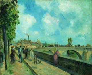 カミーユ・ピサロ「ポントワーズの橋」(1878年)
