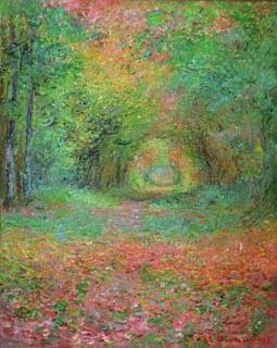 クロード・モネ「サンジェルマンの森の中で」(1882年)