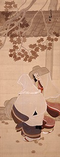 石山太柏「松虫・鈴虫の図」
