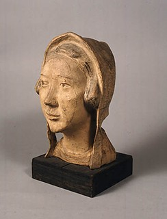 新海竹蔵「防寒帽の少女」(1946年)