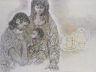 髙山辰雄「聖家族X」(1993年)