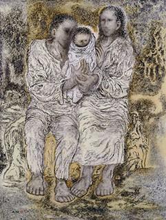 髙山辰雄「聖家族XIX」(1993年)