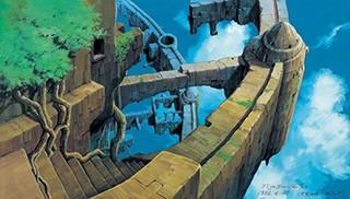 天空の城ラピュタ《荒廃したラピュタ》 (1986年 ©1986 二馬力・G)
