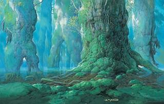 もののけ姫《シシ神の森 (5)》 (1997年 ©1997 二馬力・GND)