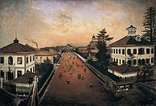 高橋由一《山形市街図》 山形県