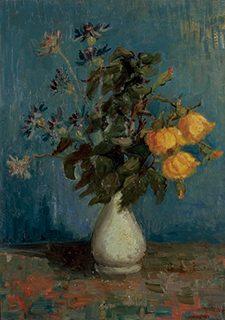ヴィンセント・ヴァン・ゴッホ《白い花瓶のバラ》1886年 吉野石膏コレクション