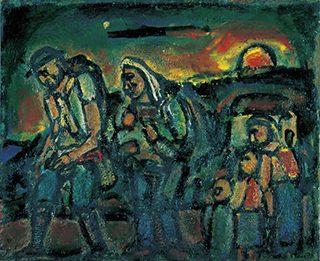 《避難する人たち (エクソドゥス)》 1948年