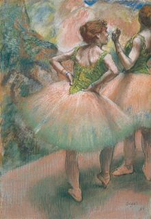 エドガー・ドガ《踊り子たち、ピンクと緑》1894年