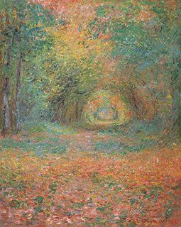 クロード・モネ《サンジェルマンの森の中で》1882年
