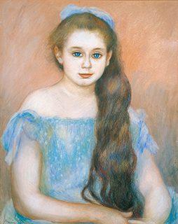 ピエール=オーギュスト・ルノワール《シュザンヌ・アダンの肖像》1887年