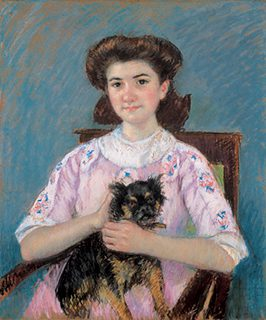 メアリー・カサット《マリー=ルイーズ・デュラン=リュエルの肖像》1911年