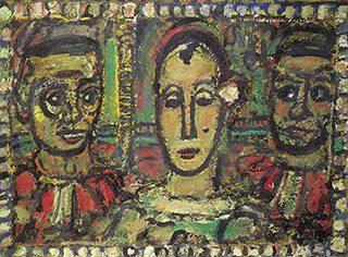 ジョルジュ・ルオー《告発されたピエロ》1953-56年