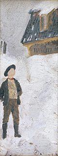 エドヴァルド・ムンク 18歳 《雪景色の中の少年》1881年 板、油彩