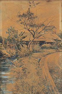 岸田劉生 16歳 《秋》1907年 紙、水彩