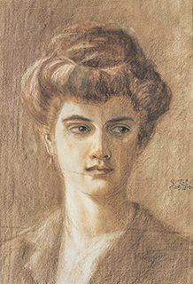 エゴン・シーレ 16歳 《画家の姉、メラニー・シーレ》1906年 紙、赤褐色チョーク