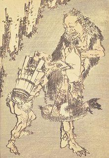 葛飾北斎《北斎漫画 十篇 鬼の買い物》1819年(文政2)