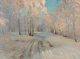ワシーリー・バクシェーエフ《樹氷》1900年、油彩・キャンヴァス<br /> © The State Tretyakov Gallery