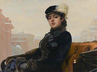 イワン・クラムスコイ《忘れえぬ女》1883年、油彩・キャンヴァス<br /> © The State Tretyakov Gallery