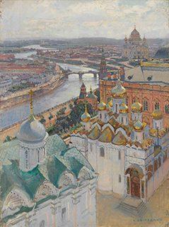 ニコライ・グリツェンコ《イワン大帝の鐘楼からのモスクワの眺望》1896年、油彩・キャンヴァス<br /> © The State Tretyakov Gallery
