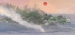同人 田渕俊夫《明日香心象 橘寺夕陽》<br /> Tabuchi Toshio / Memory of Asuka Sunset in Tachibana temple
