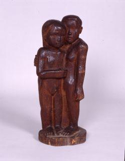 新海竹蔵《姉妹》1924年