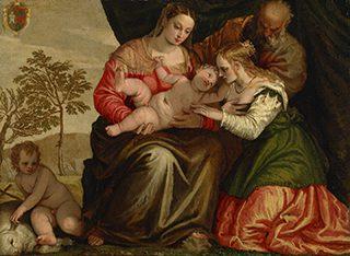 パオロ・ヴェロネーゼ(本名パオロ・カリアーリ)《聖カタリナの神秘の結婚》1547年頃、油彩/カンヴァス、国立西洋美術館