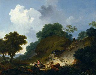 ジャン=オノレ・フラゴナール《丘を下る羊の群》1763-65年頃、油彩/カンヴァス、国立西洋美術館