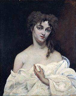 ギュスターヴ・クールベ《肌ぬぎの女》1867年、油彩/カンヴァス、松方コレクション、国立西洋美術館