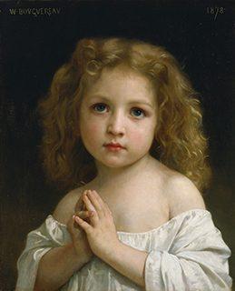 ウィリアム・アドルフ・ブーグロー《少女》1878年、油彩/カンヴァス、国立西洋美術