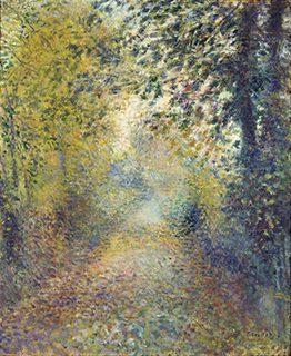 ピエール=オーギュスト・ルノワール《木かげ》1880年頃、油彩/カンヴァス、松方コレクション、国立西洋美術館